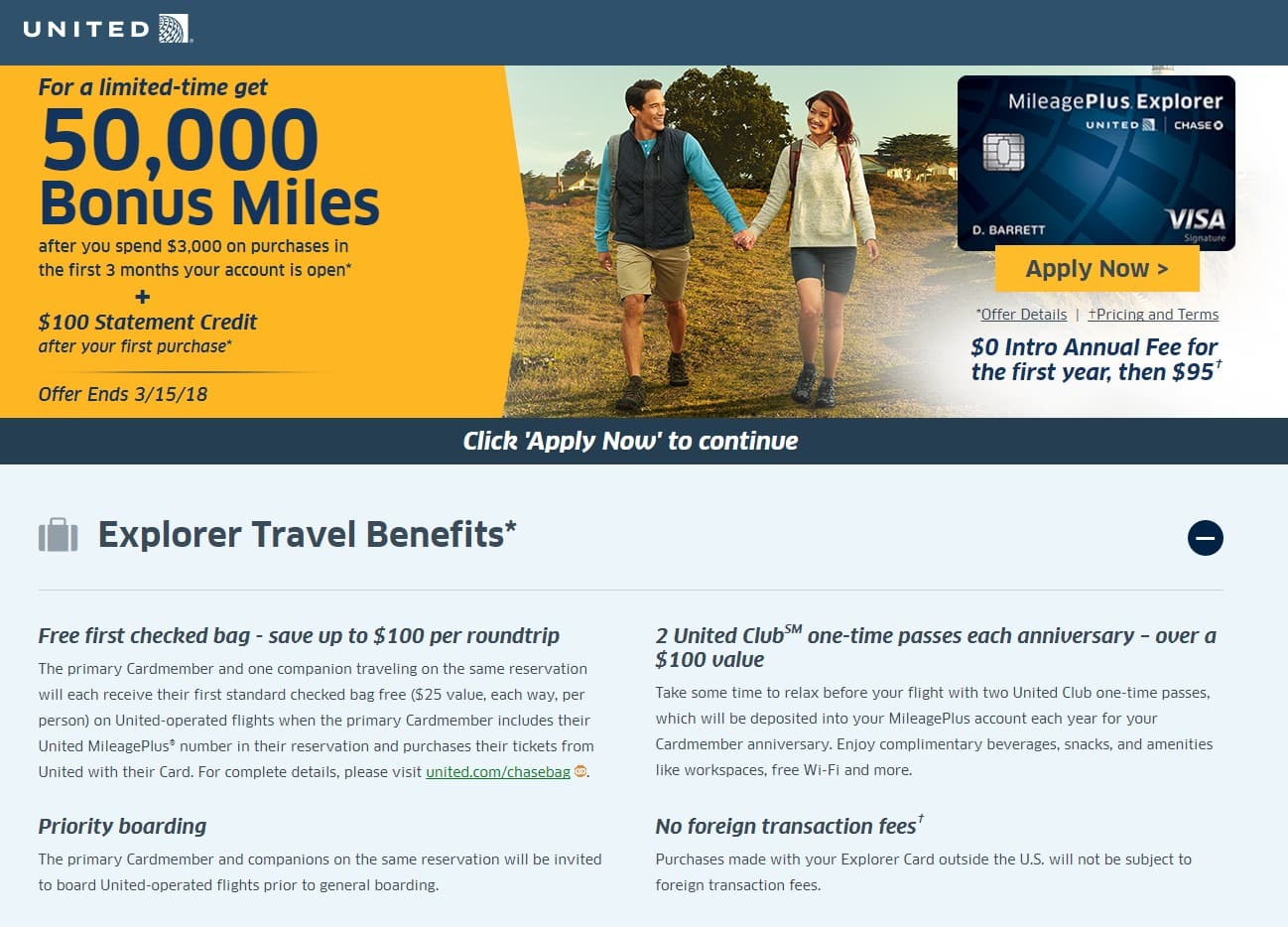 United Credit Card Customer Service Chase United Mileage Plus Explorer Credit Card Promotion 50k