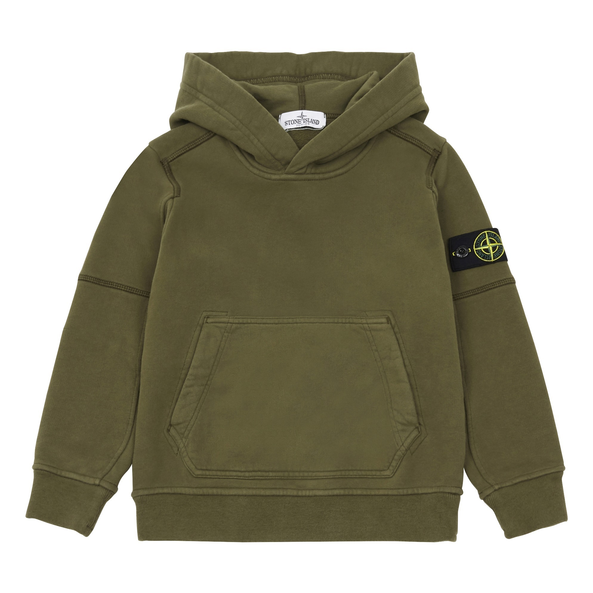Pullover Teenager Jungen Hoodie Khaki Stone Island Mode Teenager Kind