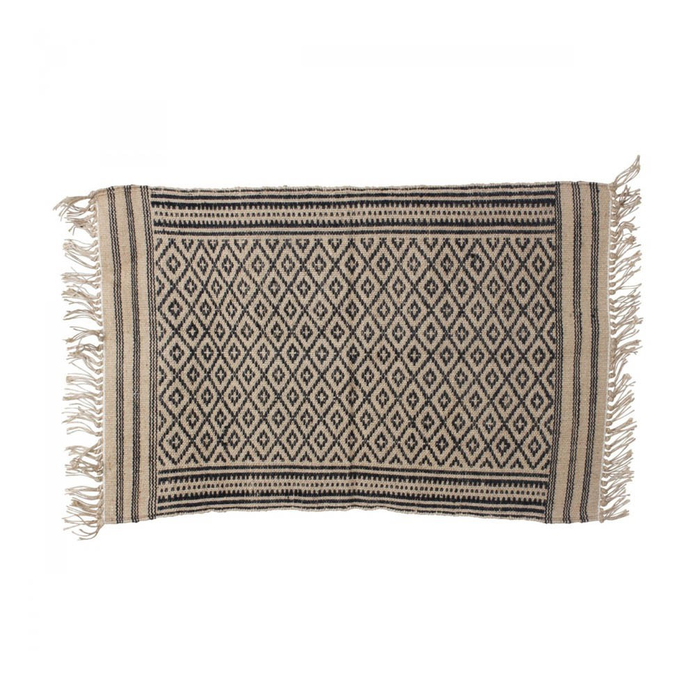 Tapis En Jute Tapis Tipi En Jute Noir Smallable Home Design Adulte