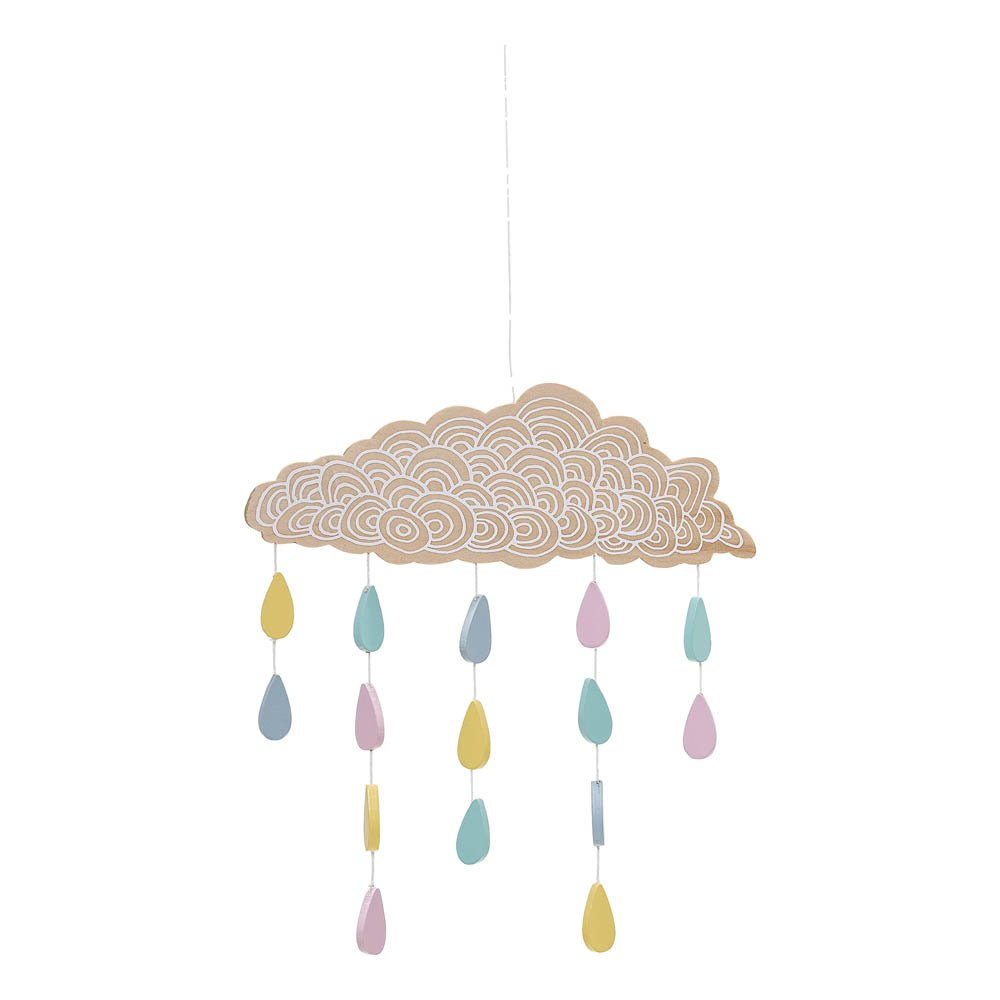 Wooden Baby Mobile Wooden Cloud Mobile Bloomingville Kids Design Baby