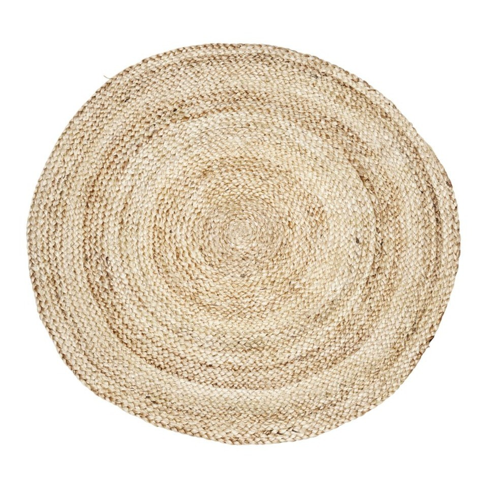 Tapis Rond Fille Tapis Rond En Chanvre D100 Cm Naturel House Doctor Design Adulte