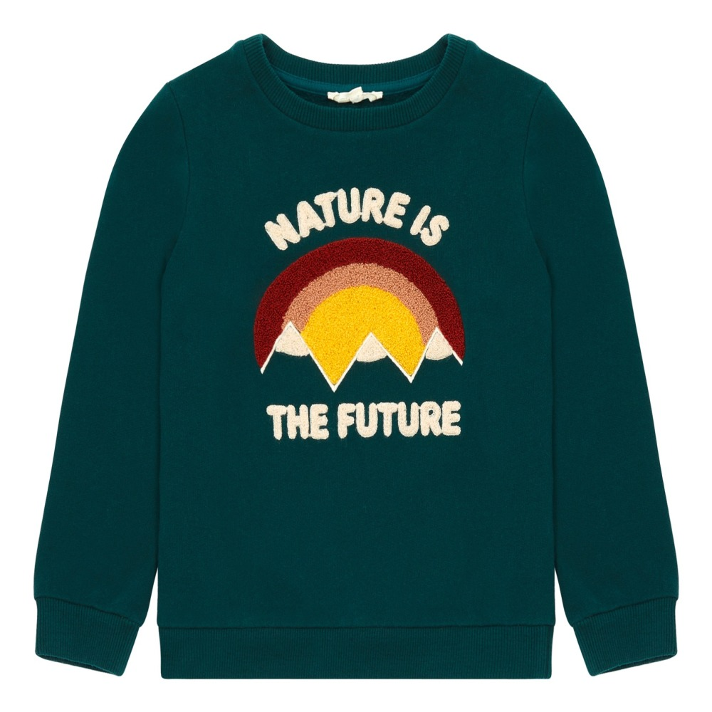 Pieces Pullover Grün Sweatshirt Nature Is The Future Dunkelgrün Hundred Pieces Mode