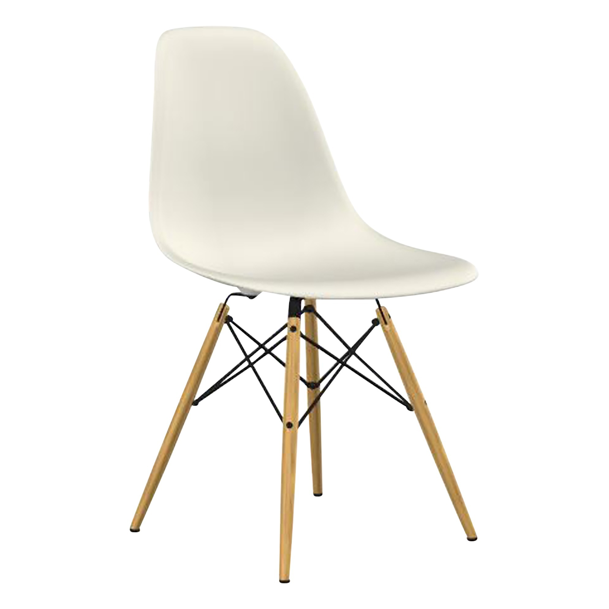Chaise Dsw Rembourree Chaise Dsw Charles Ray Eames 1950 Crème Vitra Design Adulte