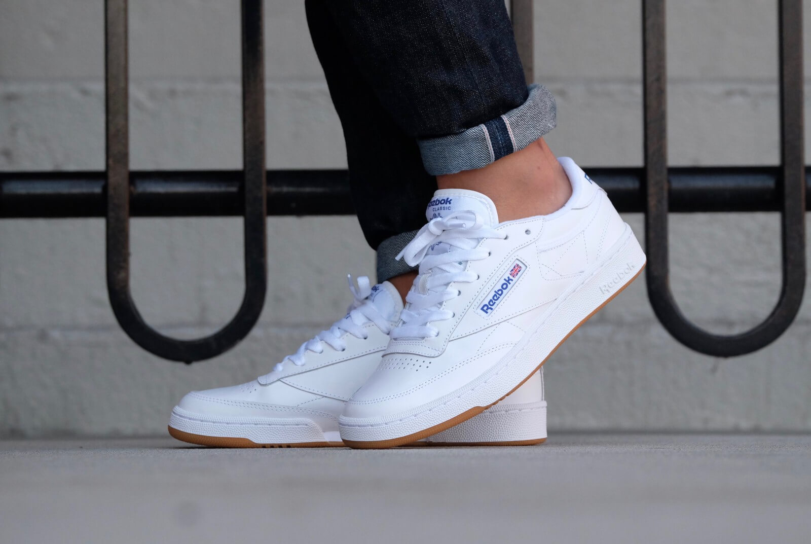 All Sneaker Herren Reebok Club C85 White Royal - Ar0459
