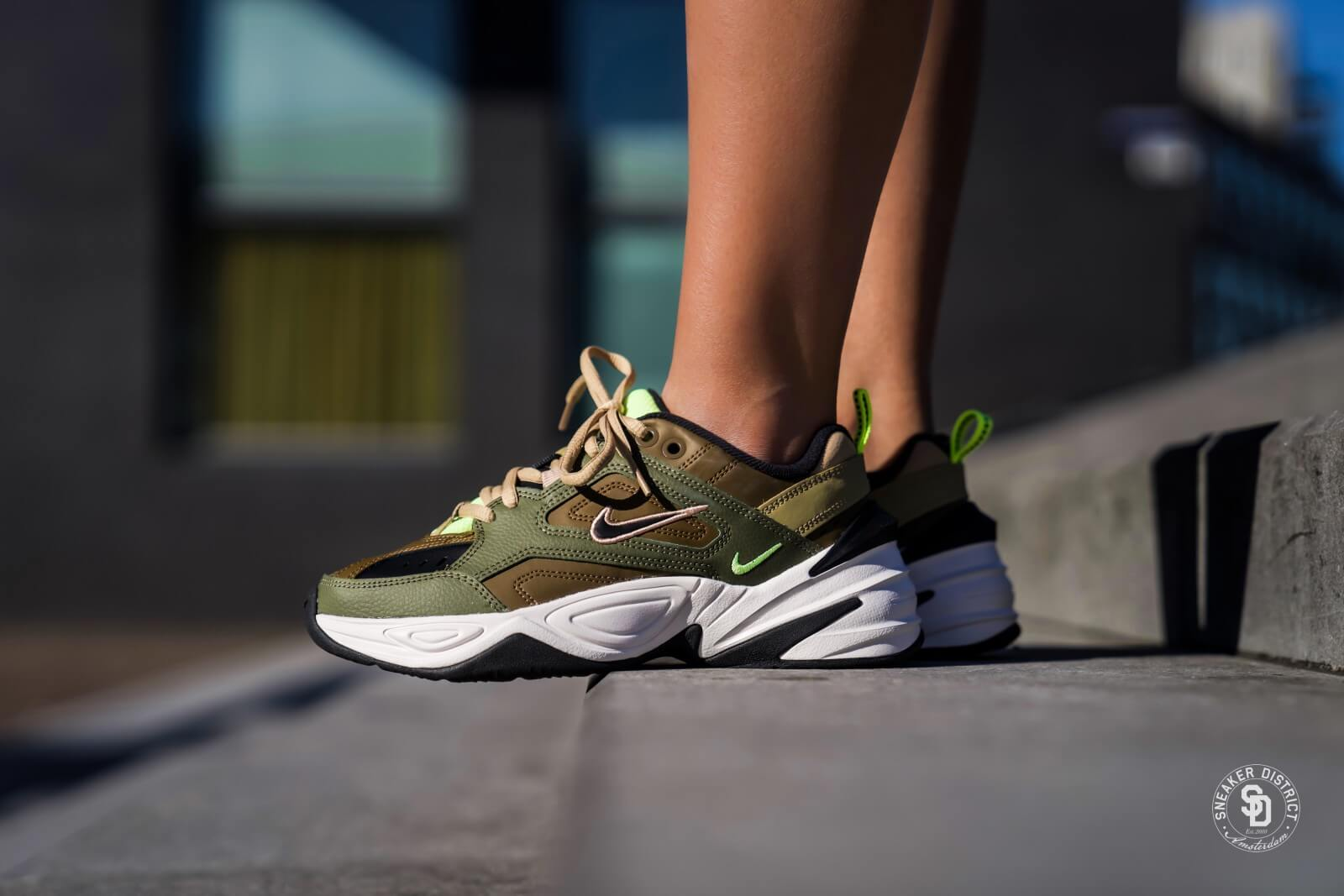 Kaki Groen Nike Women's M2k Tekno Medium Olive/black-yukon Brown