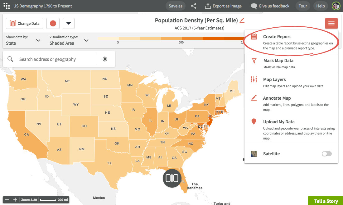 Create report using maps Creating reports Using Reports Social