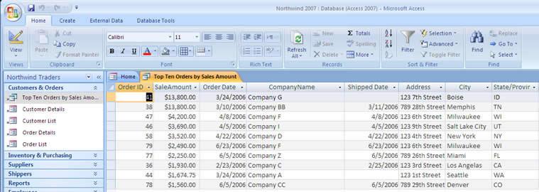 ms access customer database - zaxa
