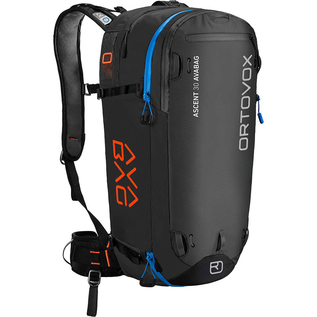 Fahrradtaschen Rucksack Ortovox Ascent 30 Avabag Avalanche Backpack Without Cartridge Black Anthracite
