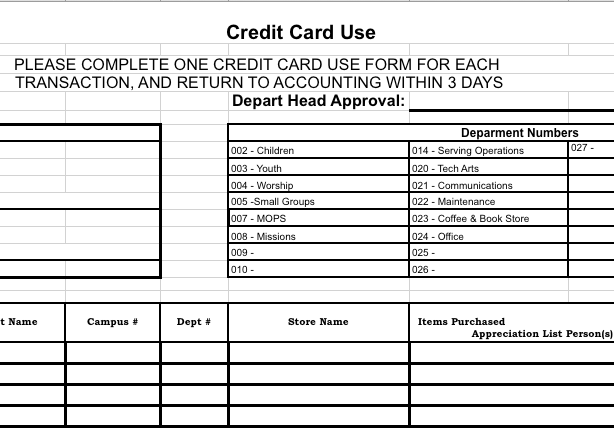 Credit Card Payment Calculator For Microsoft Excel Excel Credit Card Reconciliation Form — Churchtecharts