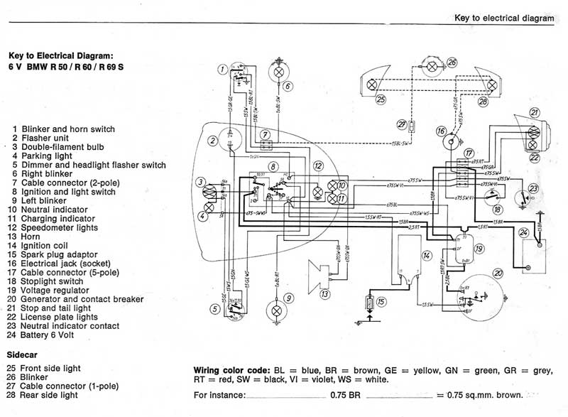 motorcycle headlight 4 wires diagram