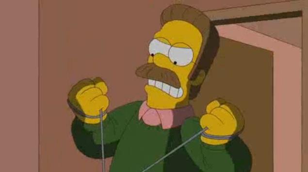 Fall Cartoon Wallpaper Ned Flanders Dexter Opening Parody The Simpsons