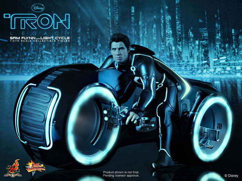 Pretty Full Wallpapers Disney Quotes Tron Legacy Sam Flynn Light Cycle Collectible 1 6 Scale