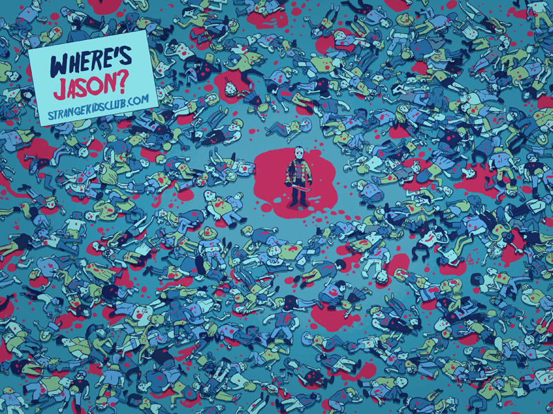 Smurf Wallpaper 3d Where S Waldo Friday The 13th Edition Geektyrant