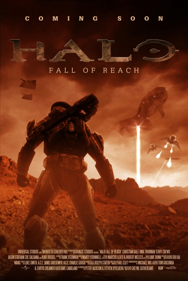 Halo Wallpaper Fall Of Reach Cool Fan Made Video Game Movie Poster Art Geektyrant