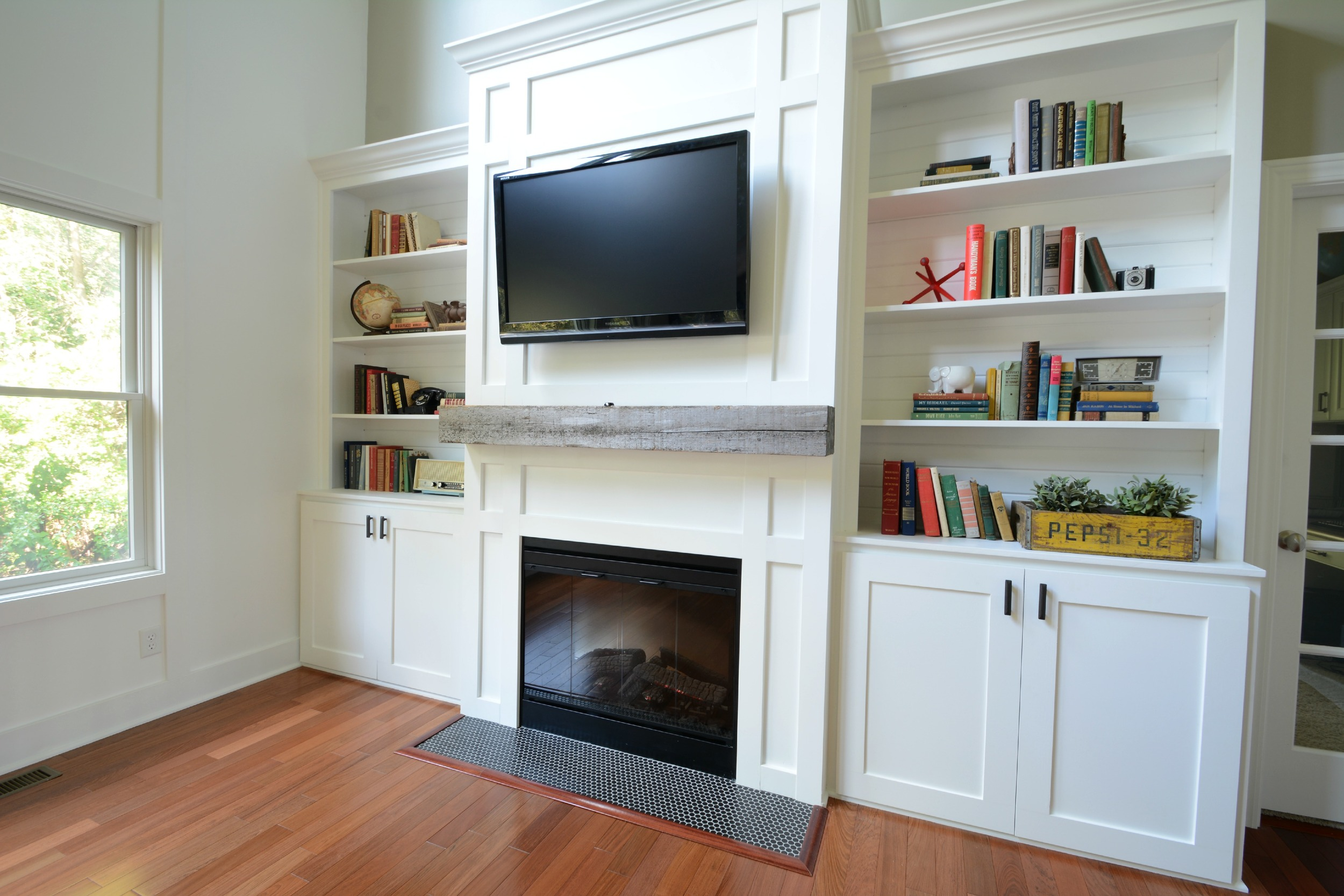 Ana White Living Room Built Ins Feature By Decor And