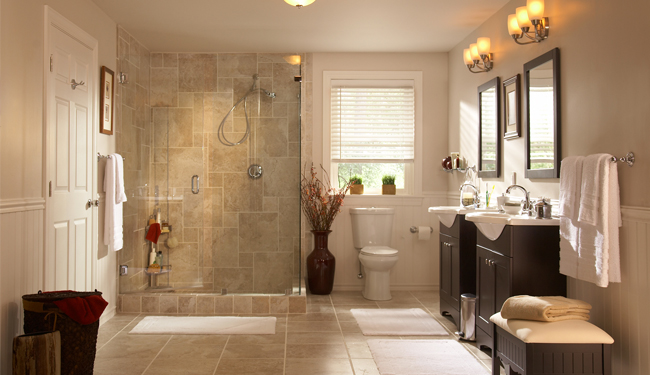 build a better bathroom u2014 MFAMB  My Favorite And My Best - home depot bathroom tile ideas