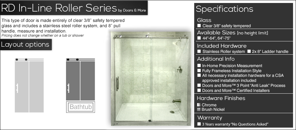 Doors And More Frameless Shower Doors Toronto Canada