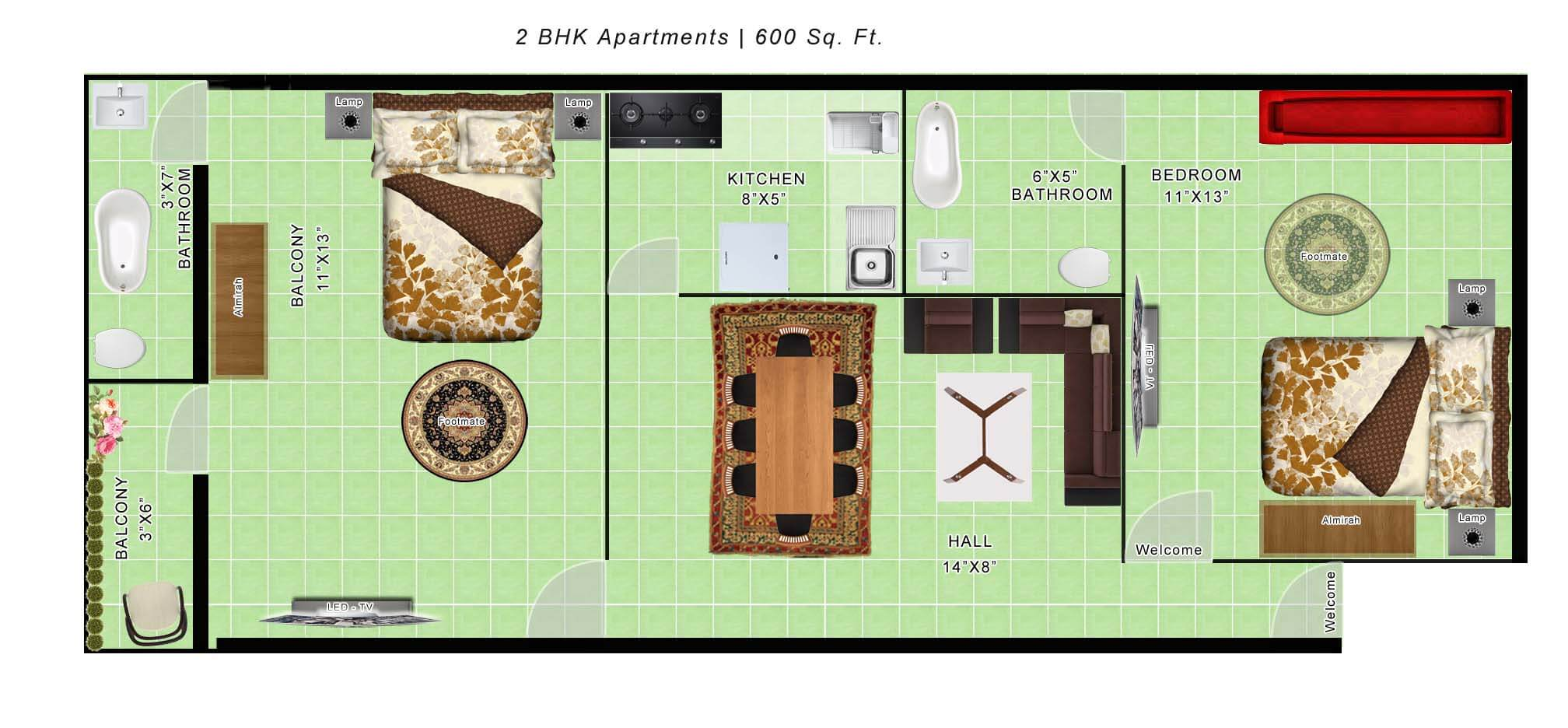 600 Sq Ft Apartment 600 Sq Ft Apartment Floor Plan India Latest