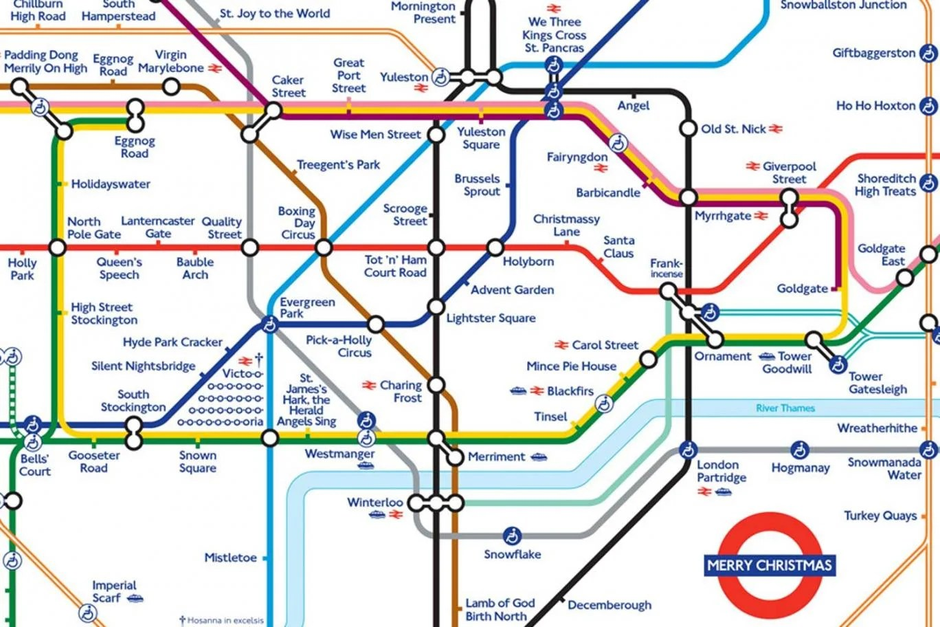 Vauxhall Partners List Of Companies All About London Londoner Creates Festive Tube Map To
