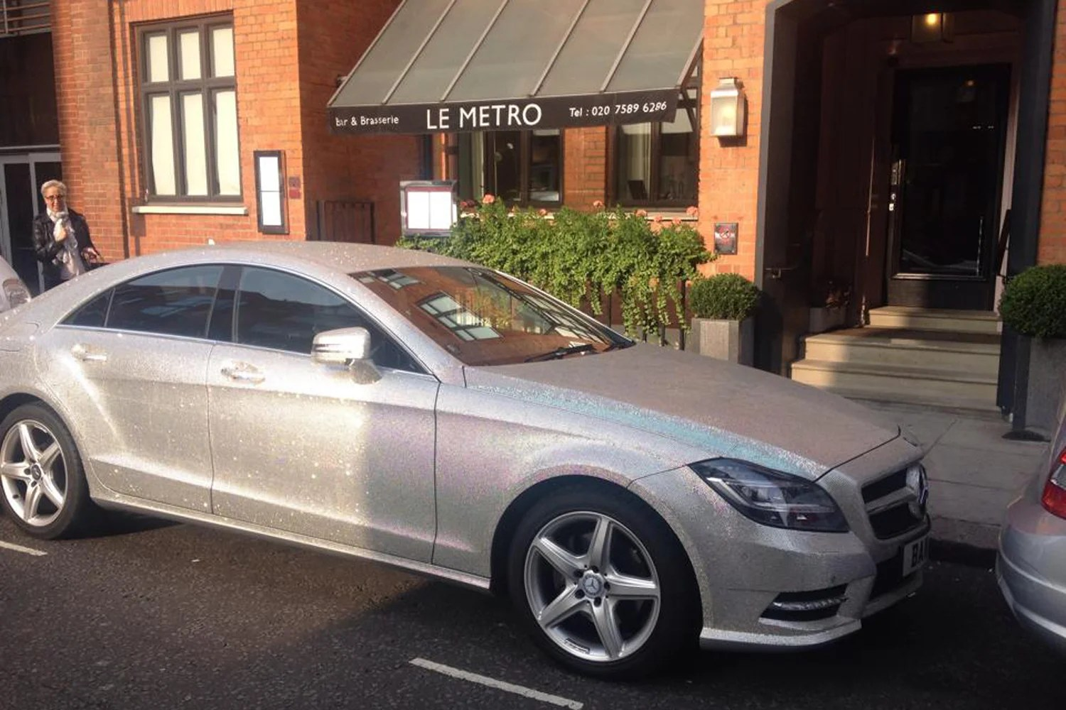 Merc London Italia Ultimate Bling Bling Car Covered In Diamonds Pictured In