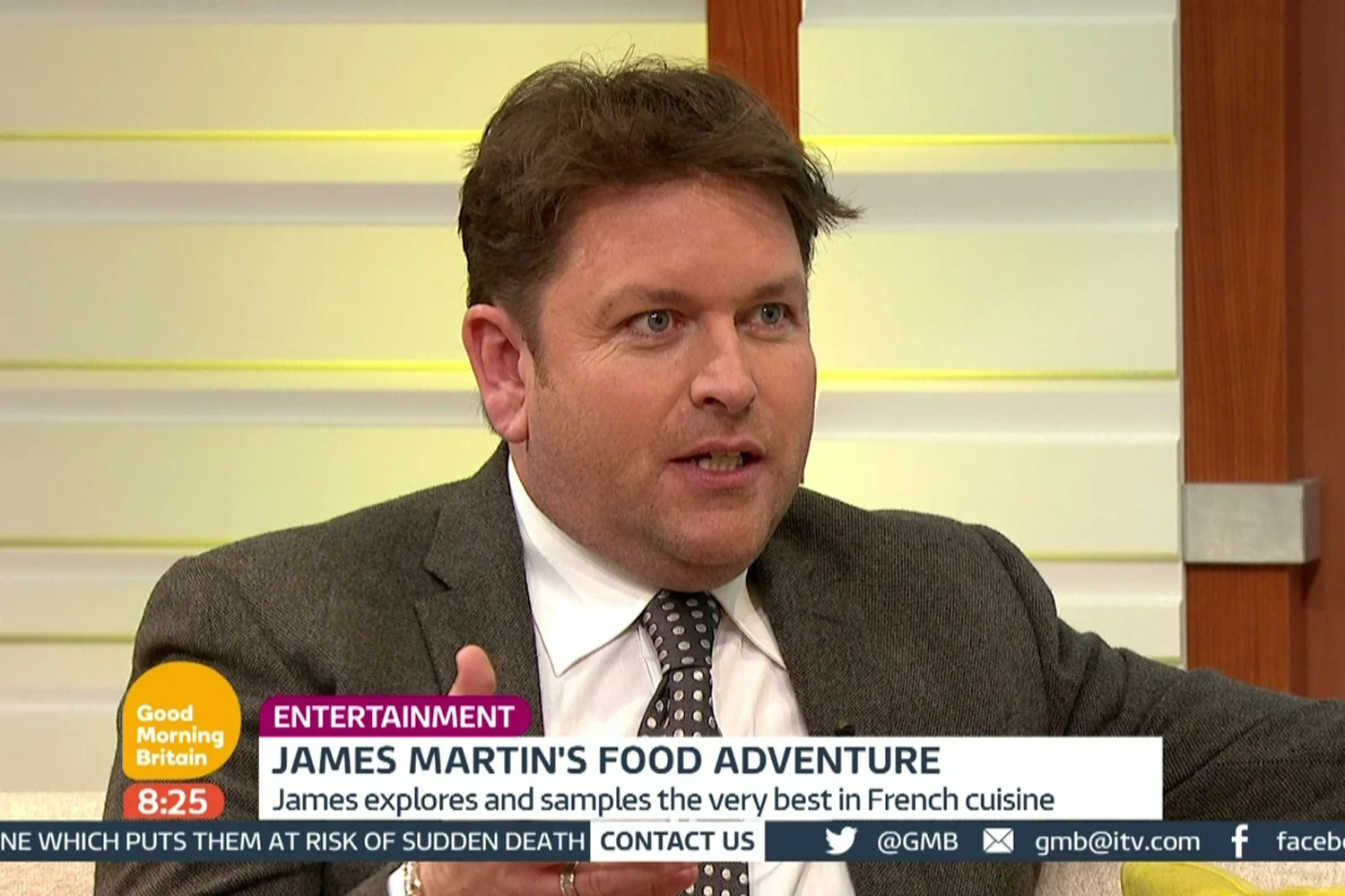 James Martin Company James Martin Reveals He Quit Saturday Kitchen After