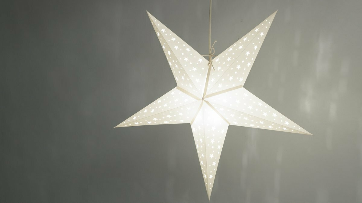 Paper Light Shades Starry White Decorative Paper Star Light Shade
