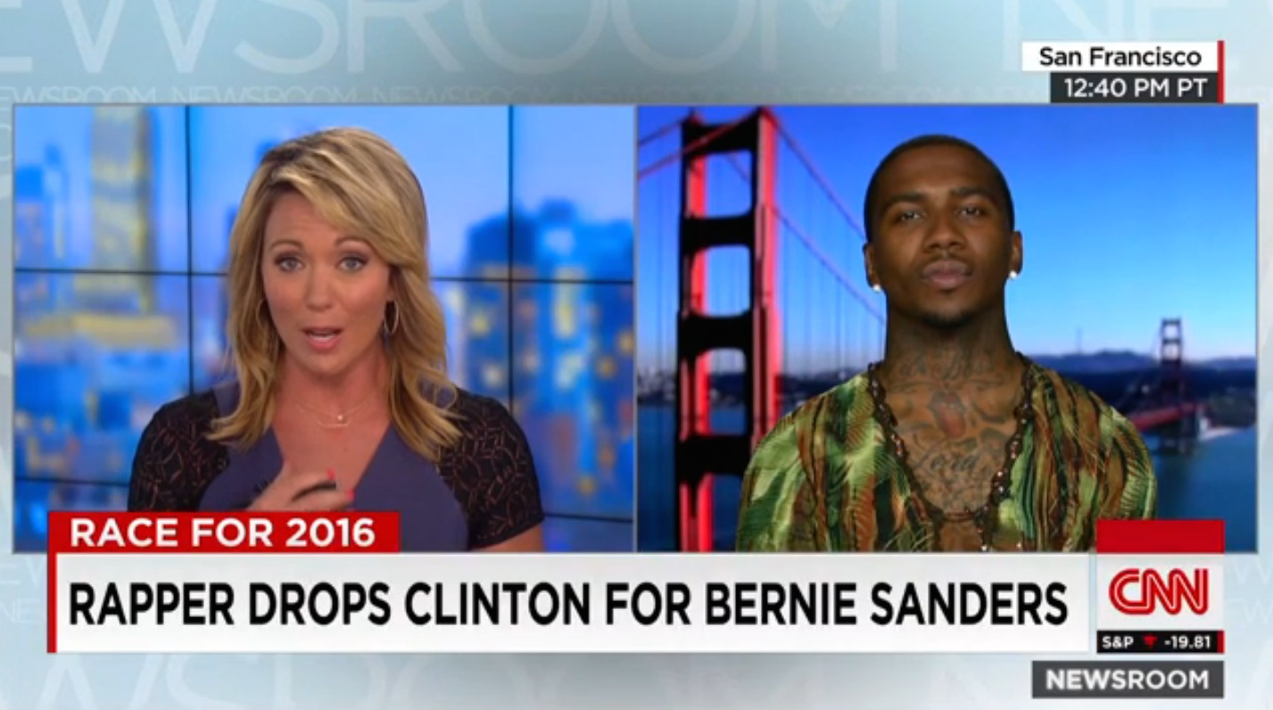 Cnn Lil B Endorses Bernie Sanders On Cnn Sanders Says Thanks Stereogum