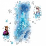 Stickers Scintillants Le Palais De Glace La Reine Des - Sticker Mural Reine Des Neiges