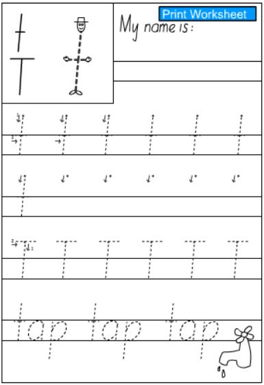 english writing practice sheet