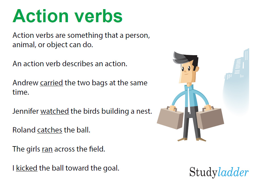 Action Verbs - Studyladder Interactive Learning Games