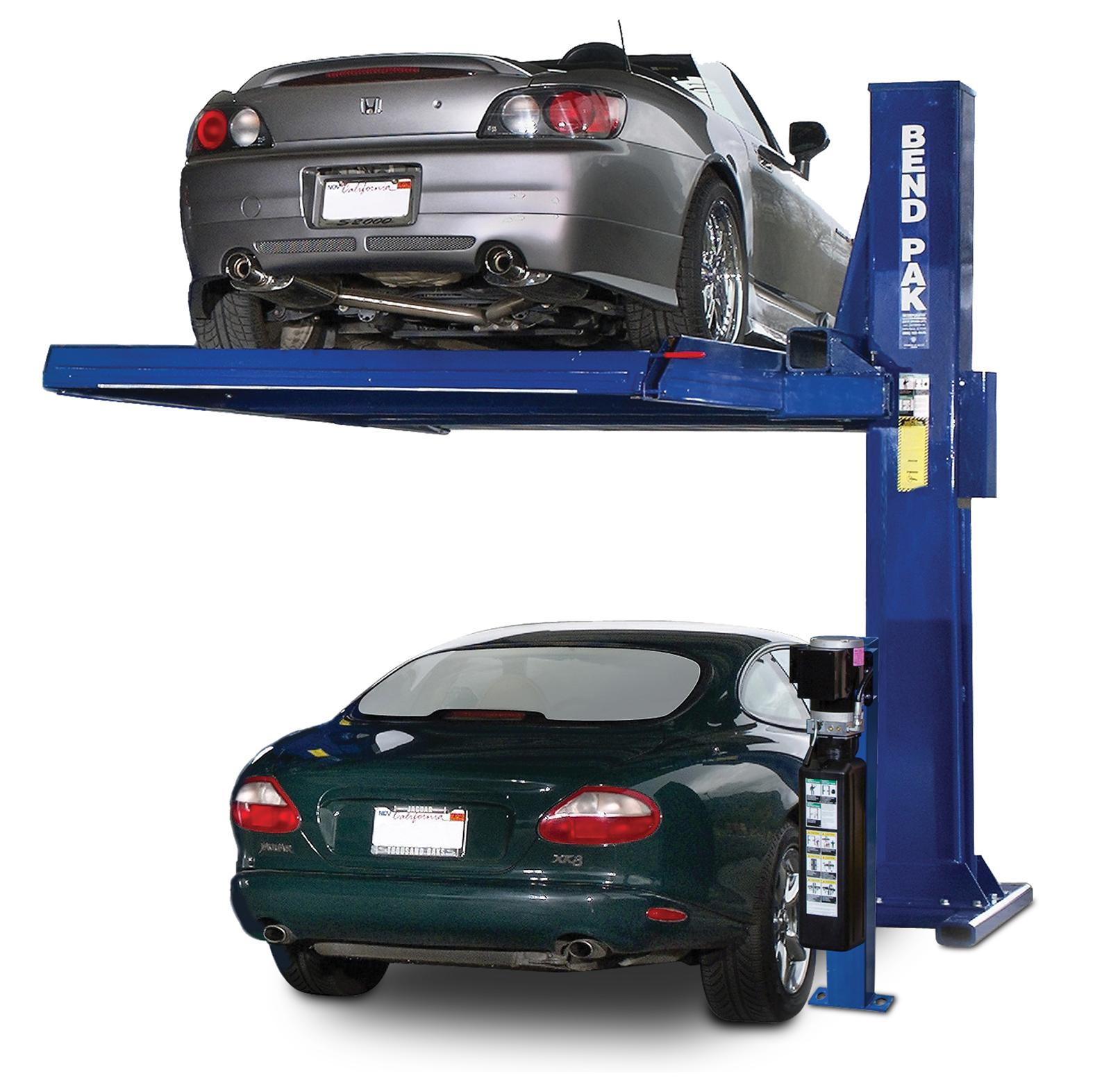 Garage Auto 95 Bendpak Pl 6000x Single Post Car Stacker Parking Deck Lifts