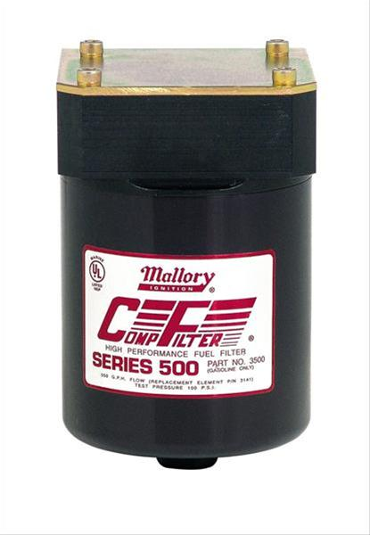 Mallory Comp Filter High Efficiency 500 Series Fuel Filters 3500M
