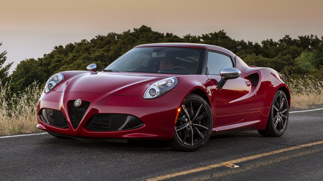 Girls Of The Wilds Wallpaper Red Alfa Romeo 4c With Black Rims