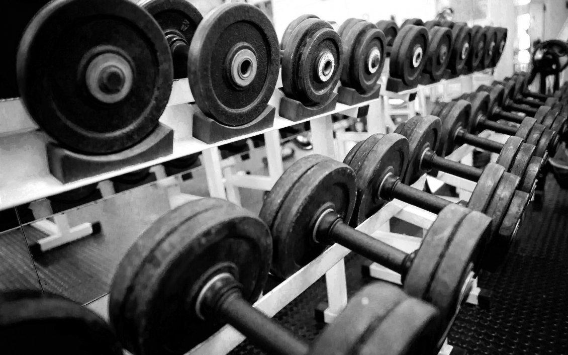 Mercedes Sports Cars Wallpapers Dumbbells In A Gym