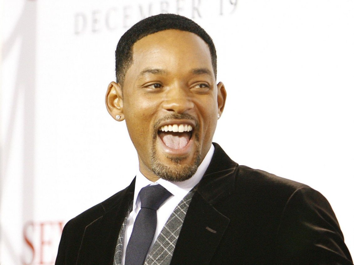 Cute Mustache Wallpaper Will Smith In Suit And Tie With Smile On Face