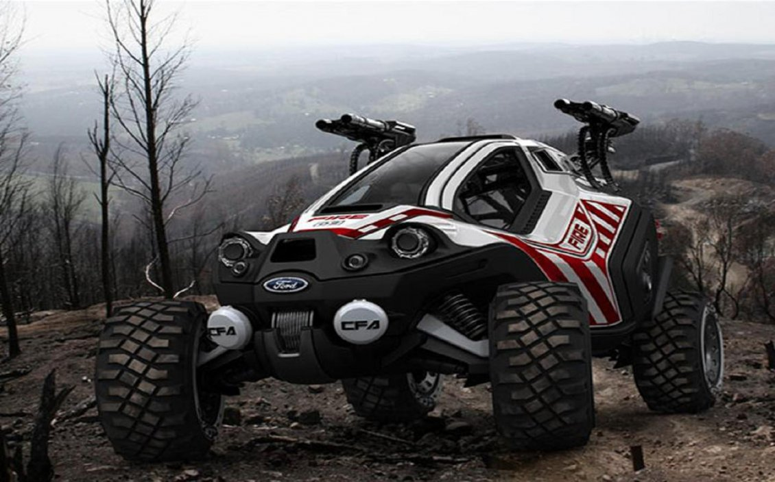 Monster Rally Car Wallpaper Ford Amatoya Off Road Car In The Mountain Top