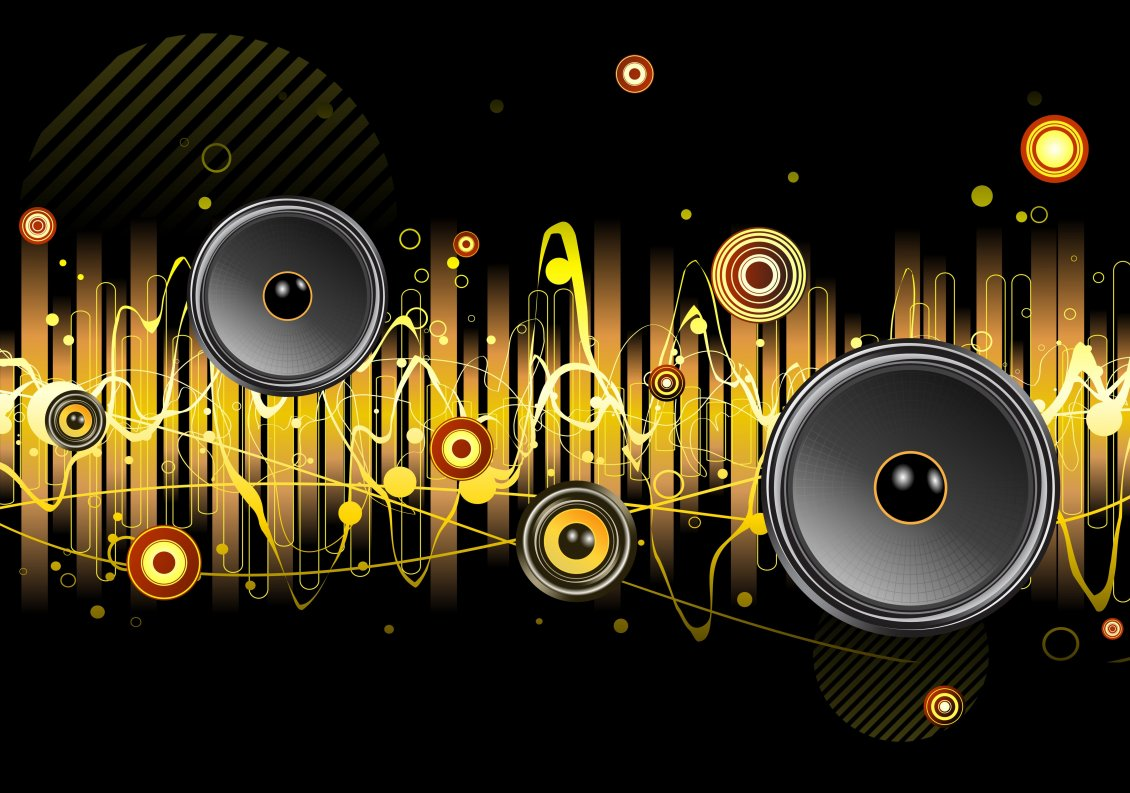 Cool Music Speakers Many Different Speakers In The Abstract Music Wallpaper