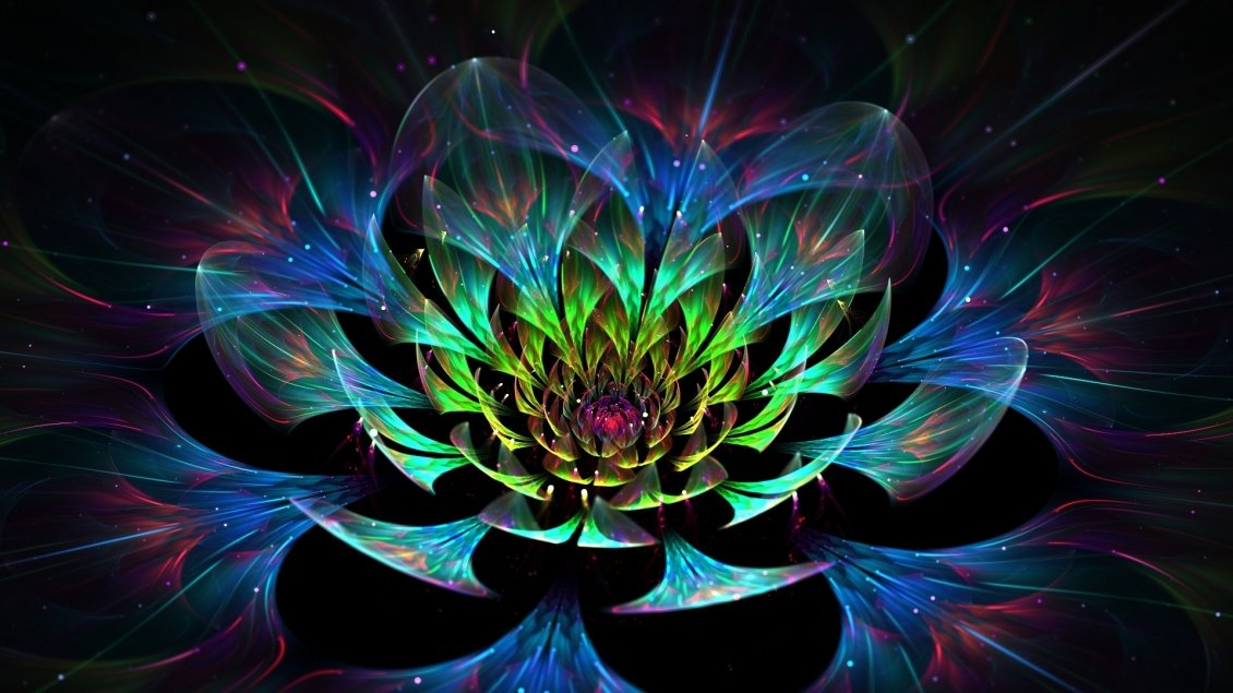 Bugatti Hd Wallpapers Free Download Abstract Colorful Lotus 3d Flower Art Design