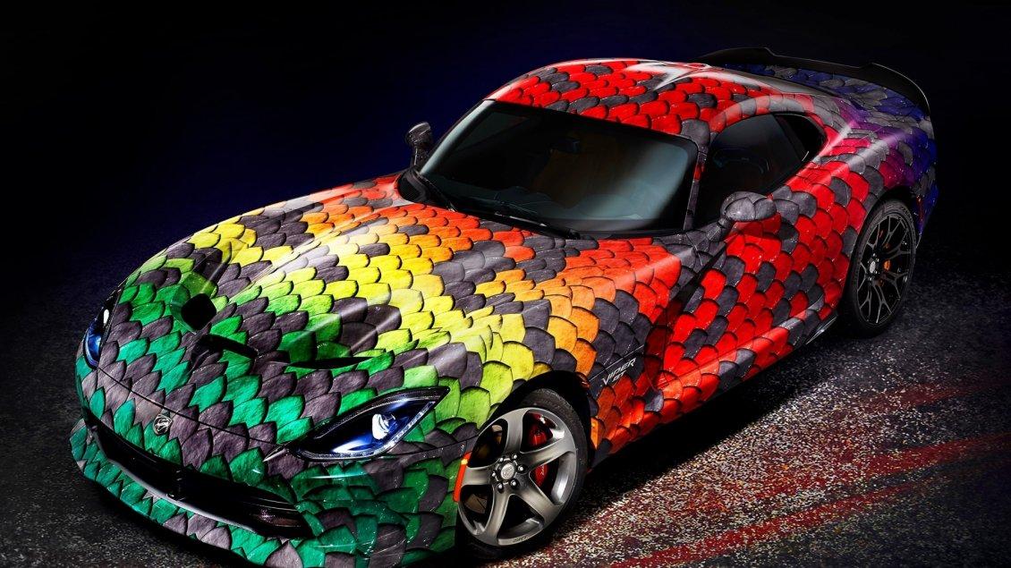 Viper Car Wallpaper Fantastic Car Dodge Viper Snake Skin