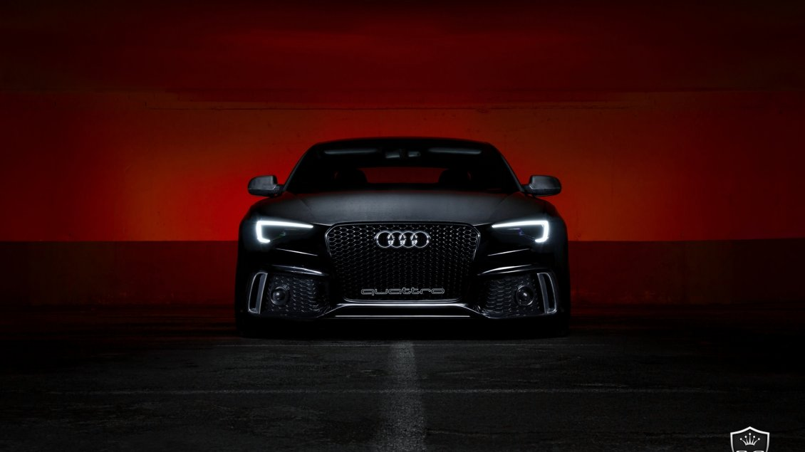 Mercedes Sports Cars Wallpapers Black Audi S5 Front View Dark Wallpaper