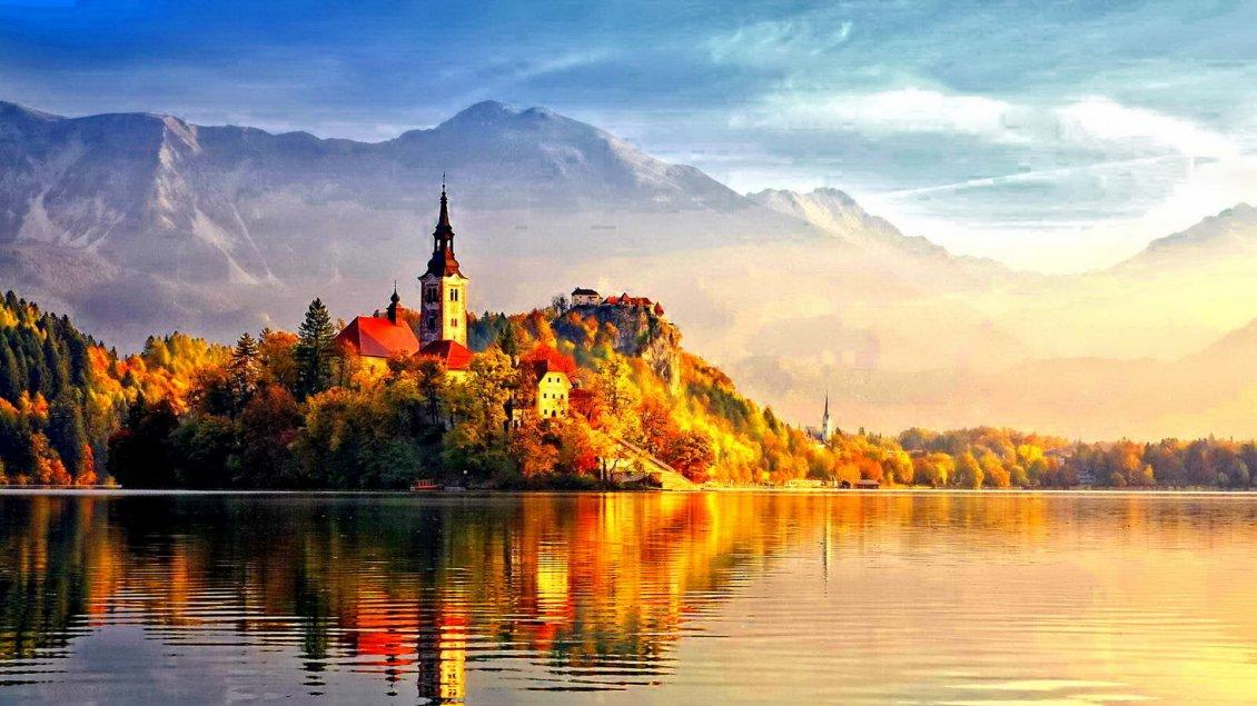Cute Cartoon Hd Wallpapers Free Download Beautiful Castle In The Light Of Autumn Sun Hd Wallpaper