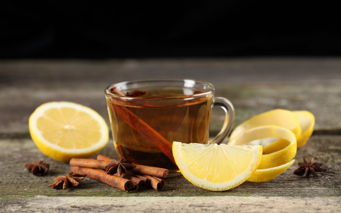 Horses In The Fall Wallpaper Hot Tea With Lemon And Cinnamon Winter Drink