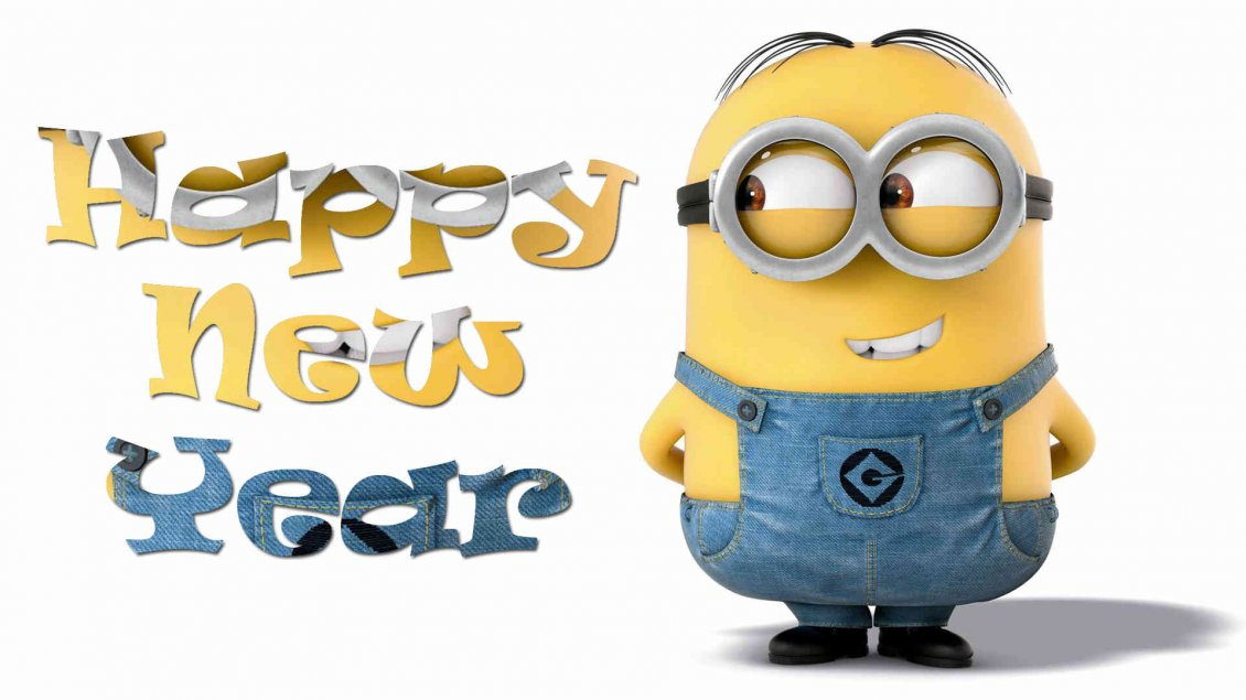 Cute Merry Christmas Wallpaper Dogs Funny Wallpaper With Minion Happy New Year 2018