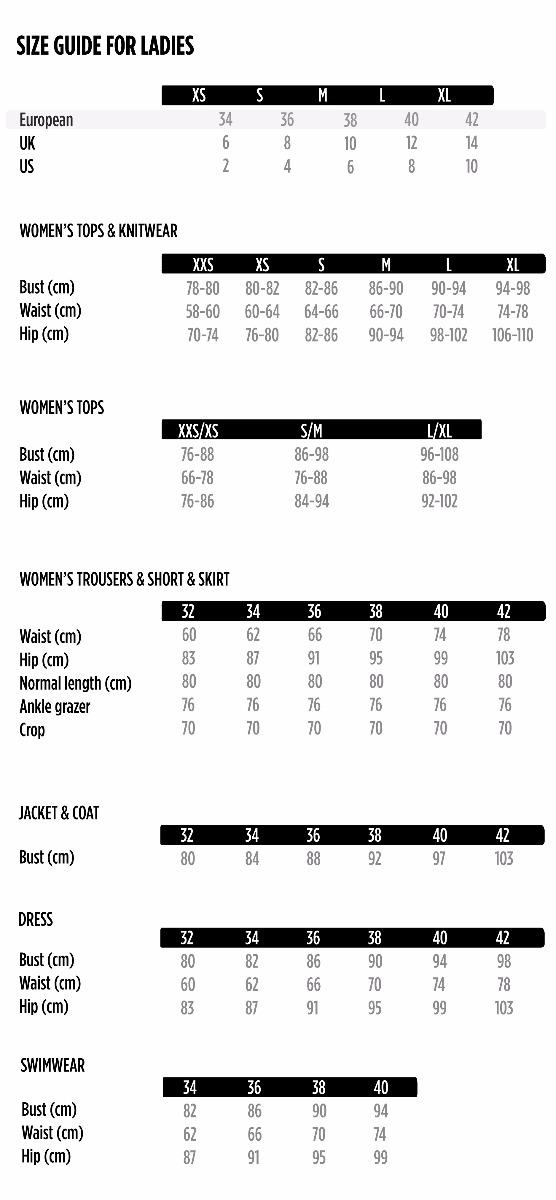 Us Jeans Size Chart - Famous Jeans 2018