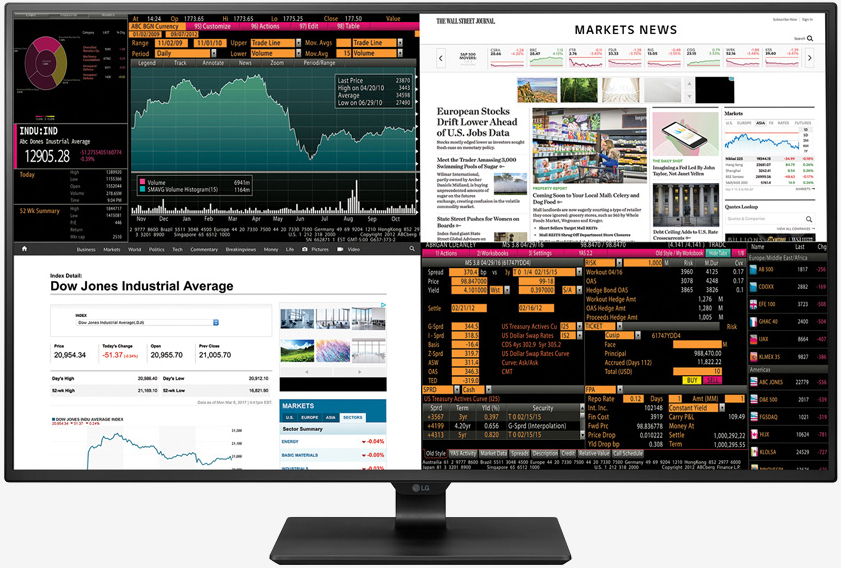 LG\u0027s new 4K monitor can display four Full HD sources at once - TechSpot - multi screen display