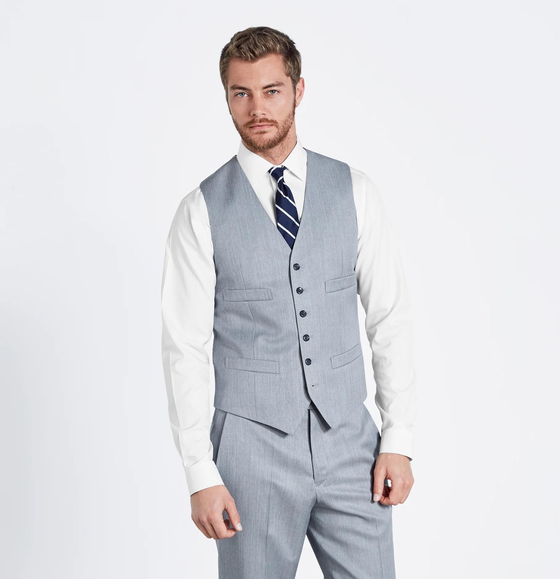 Black Tux With Silver Vest And Tie - Erieairfair