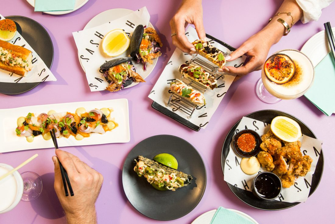 Japanese Cuisine Sash S Fusion Of Sushi Tacos Pizza And Sliders Come To Sydney S