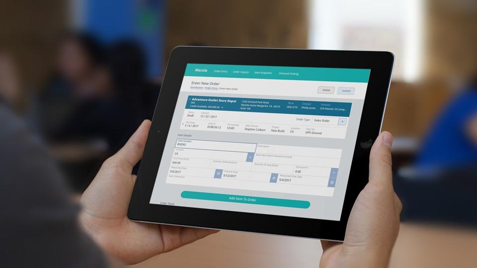 ERP/business software designed to work on tablet - The Fabricator - business tablet