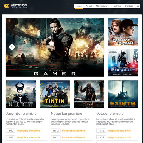 Movie Reviews Responsive Website Template