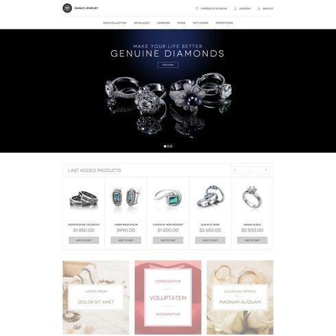 Diana\u0027s Jewelry Free Responsive Website Template